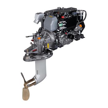 4JH57-SD60 57hp 3000 Devir Sail Drive Kuyruklu Common Rail Dizel Deniz Motoru