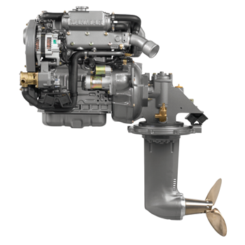 4JH5CE-SD60 53hp 3000 Devir Sail Drive Kuyruklu Dizel Deniz Motoru
